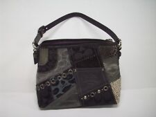 Authentic Coach Black Silver Patckwork Collection Small Bag Purse F0898-42006