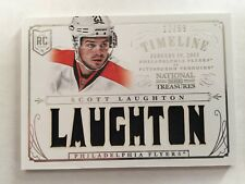 2013 Panini National Treasures Rookie Timeline #RT-SL Scott Laughton #12/99