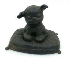 """Toy 7/"""" Height x  3/"""" Width Fido Puppy Dog Still Cast Iron Piggy Bank"""