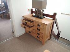 Vancouver Petite From Besp-Oak Solid Oak 8 Drawer Dresser Code NB027