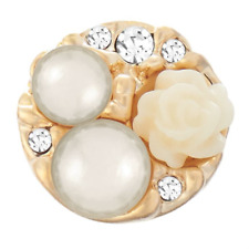 Gold Pearl Garden Ginger Snap Sn31-51 Jewelry Buy 4, Get 5Th $6.95 Snap Free