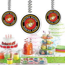 U.S. United States Marine Corps Party Supplies HANGING DANGLER DECORATIONS