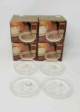 """(4) NOS Boxes of  """"Grecian"""" Style Crystal Clear Coasters - 16 Total ! - USA Made"""