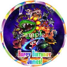 Mario GALAXY Round Edible ICING Image Birthday CAKE Topper Party Decortaion