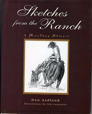 Montana History - Sketches From The Ranch, A Memoir, by; Aadland, HC Book 1998