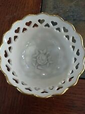 Lenox China Heart Bowl Hand Decorated With 24K Gold Made In Usa