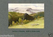 Frühling im Riesengebirge Druck von 1914 Hendrich Heringen Schreiberhau Werdandi