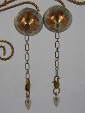 Sterling Silver Copper Brass Large Dangle Cog Earrings Modernist - Beth Piver