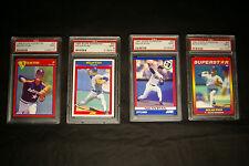 RARE Lot (All 4 Diff) Nolan Ryan Score Superstar Baseball Cards PSA9 MINT Mets