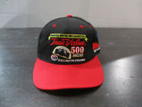 VINTAGE Indy Racing Hat Cap Snap Back Black Red Texas Motor Speedway Nascar 90s