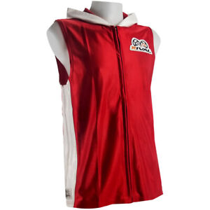 Rival Boxing Dazzle Traditional Sleeveless Ring Jacket with Hood - Red/White
