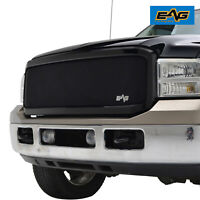 EAG Fit for 05-07 Ford F250 Replacement Matte Black Grille Stainless Steel
