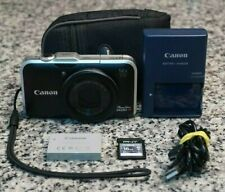 Canon PowerShot SX230 HS 12.1MP 1080p Camera 14x W/ Extras 16GB SD Tested FR/SHP