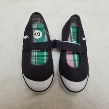 New Ralph Lauren Polo Girl Toddler 10 Navy Blue Mary Jane Shoes