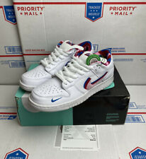 Nike SB Dunk Low OG QS Parra Size 8.5 White Pink Blue Brand New DS CN4504-100
