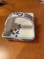 Blue And White Porcelain Basket Vintage Decor