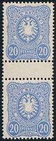 DR 1885, MiNr. 42 I ba ZS, postfrisch, Fotobefund Jäschke-Lantelme, Mi. 500,-