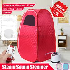 2.6L Portable Steam Sauna Tent Home Personal Spa Full Body Detox Slimming Barrel