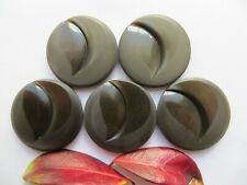 60s Vintage Med Moonglow 'Carved-Heart' Gray Coat Jacket Dress Buttons-30mm