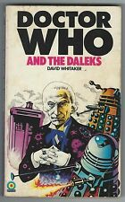 Doctor Who And The Daleks David Whitaker Target 1975 SIgned By Tom Baker Good