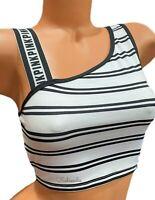 Victorias Secret PINK Ultimate Unlined Sports Bra XSmall White Black Striped