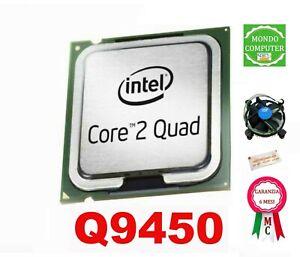 PROCESSORE SOCKET LGA 775 INTEL QUAD CORE Q9450 +DISSIPATORE INTEL+PASTA TERMICA