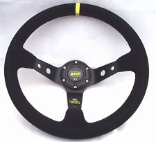 OMP 350MM SUEDE LEATHER DEEP DISH STEERING WHEEL SPARCO MOMO NARDI UK STOCK