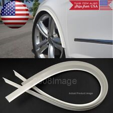 """2 Piece 47"""" White Arch Wide Body Fender Flares Extension Lip Gua For Honda Acura"""
