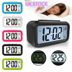 LED Digital Alarm Clock Travel Battery Large-Display Calendar Electronice clock