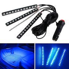New Blue 4x12LED Car Interior Light Atmosphere Decorative Light Neon Lamp Strips