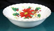 6 x Royal Albert Poinsettia 5 1/4 Inch Cereal / Fruit Bowls - NEW !