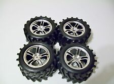 Traxxas 4910 2.5 T-maxx Chevron Tires 14mm Hex 3.8 Wheels