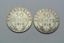 Canada Newfoundland 50 Cent 1918 1919 Fine Grades - C6879