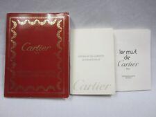 Montres Louis Cartier Watch Instructions Directory & Guarantee Certificate Books