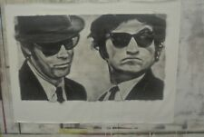 "Huge Blues Brother Painting in Artists Oils on canvas 30"" x 52"" by J. BLAH"