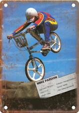 "Raleigh Burner Mike Pardon BMX Magazine 10"" x 7"" Reproduction Metal Sign B527"