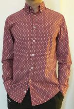 Hugo Boss camisa-S-slim fit-Skull-como nuevo!