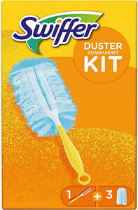 Swiffer Duster Kit (1+3) Unscented Cleaning Dusters Magnet Wiping