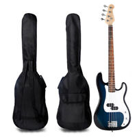Double Straps Padded Electric Bass Guitar Gig Bag Soft Case Backpack New 2016