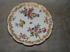 """Vintage, D, Porcelain, Multi Flower & Gold Scroll, 5 1/2"""" Plate"""