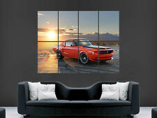 FORD MUSTANG 1968 VILLAIN  ART IMAGE HUGE  LARGE PICTURE POSTER GIANT
