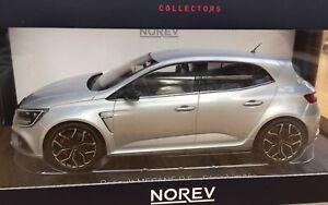NOREV 185237 RENAULT MEGANE IV RS model road car Platinum grey Ltd Ed  2017 1:18