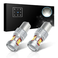 SiriusLED 1156 7506 White Reverse Turn Signal Light Compact LED 400LM Bulbs 2pcs