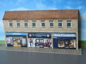Low Relief  Shops, Greggs, Salvation Army ,Dry Cleaners  Self Assembly Kit .