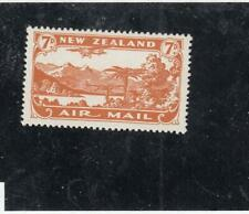 NEW ZEALAND # C3  VF-MH  7d  1931 PLANE OVER LAKE MANAPOURI CAT VALUE $30