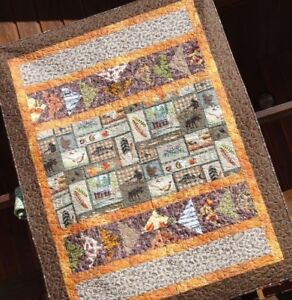 Outdoor Lap Quilt,Hunting,Lodge Bedding,Cabin Bedding,Wildlife Quilt,Cabin Throw
