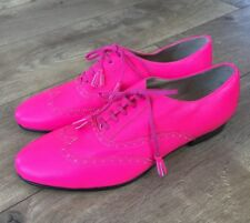 NEW JCrew Women Tasseled Oxford Shoes Bright Pink E1161 $268 7 ONE OF A KIND!