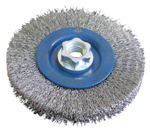 Stainless Steel Crimped Wire Brush Wheel For Angle Grinders, 115 mm.