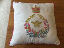 "JOULES Queen Bee Embroidered Cushion 14"" X 14"""