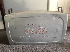 Vintage aluminum coca cola cooler circa 1950s